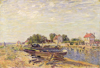 Saint Painting - The Loing At Saint Mammes 1885 by Alfred Sisley