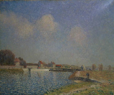 Loing Painting - The Loing At Saint Mammes by Alfred Sisley