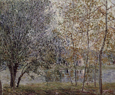 Painting - The Loing Canal In Spring by Alfred Sisley