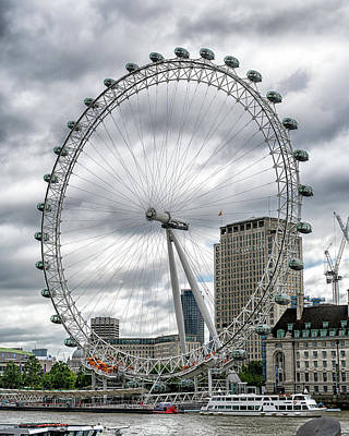 Photograph - The London Eye by Alan Toepfer