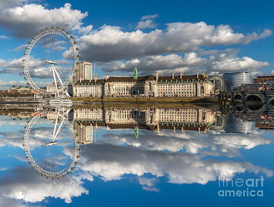 London Eye Photograph - The London Eye by Adrian Evans