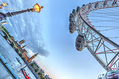Photograph - The London Eye And Westminster by David Pyatt