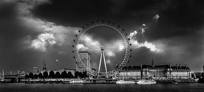 London Eye Photograph - The London Eye by Carlton De Souza