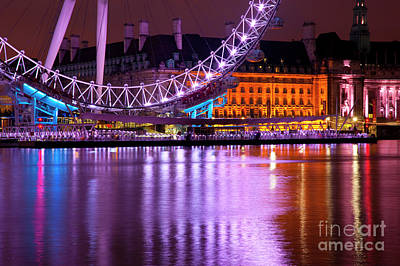 London Eye Digital Art - The London Eye by Donald Davis