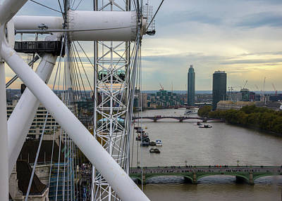 Photograph - The London Eye by Lindy Grasser