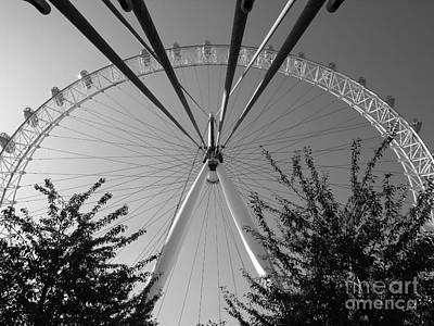 Photograph - The London Eye  Monotone by Jeffrey Peterson