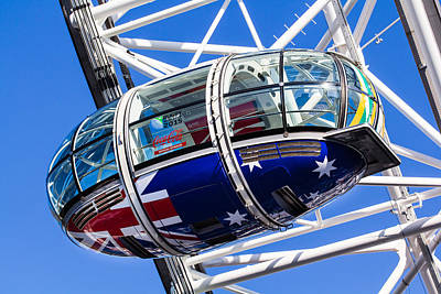 The London Eye Rugby World Cup 2015 Art Print