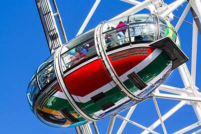 The London Eye South African Flag Art Print