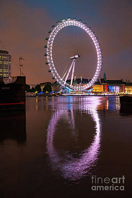 The London Eye Print by Nichola Denny