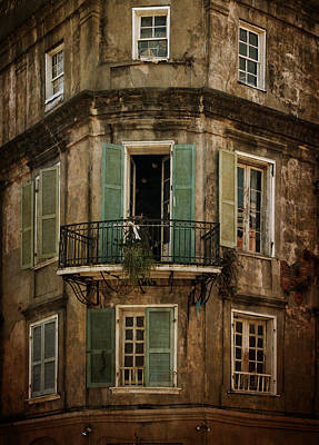 The Lone Balcony Of New Orleans Art Print
