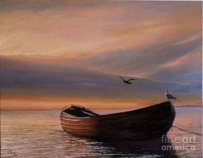 Painting - A Lone Boat by Rosario Piazza