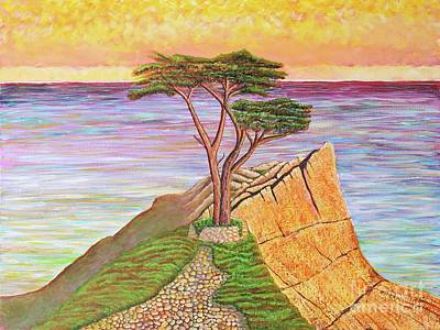 Painting - The Lone Cypress  by Joseph J Stevens