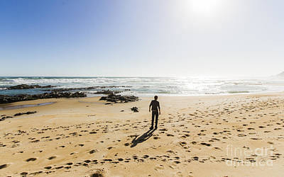Beach Landscape Photograph - The Lone Explorer  by Jorgo Photography - Wall Art Gallery