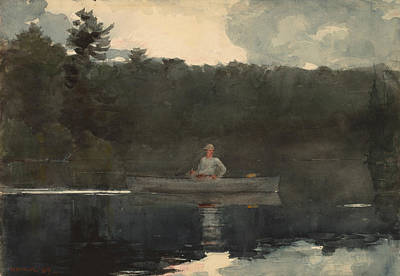 Painting - The Lone Fisherman by Winslow Homer