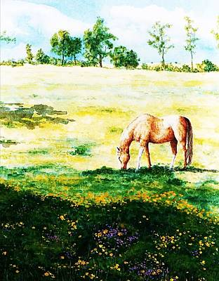 Painting - The Lone Horse by Hartmut Jager