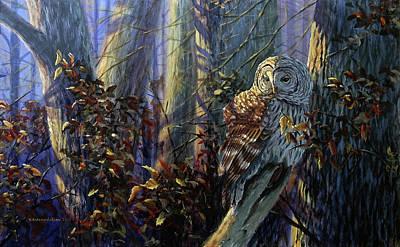 Painting - The Lone Hunter by Valentin Katrandzhiev