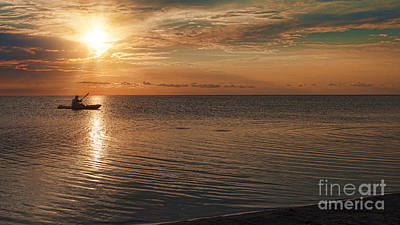 Photograph - The Lone Kayaker Number 2 by Laurinda Bowling