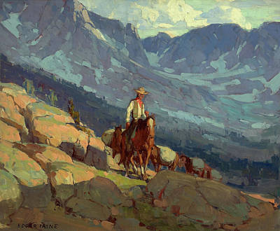 The Lone Packer Art Print by Edgar Alwyn Payne