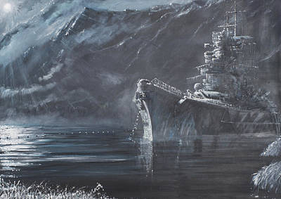 Navy Painting - The Lone Queen Of The North by Vincent Alexander Booth