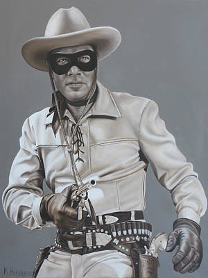 Lone Ranger Painting - The Lone Ranger Rides Again By K Henderson by K Henderson