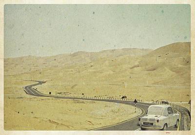 Car Digital Art - The Lone Road by KJ DePace
