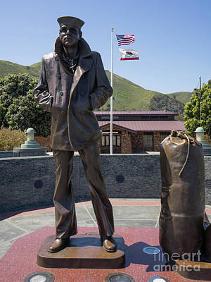 Photograph - The Lone Sailor Memorial At The San Francisco Golden Gate Bridge Dsc6152 by San Francisco Bay Area Art and Photography