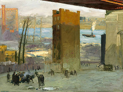 Bellows Painting - The Lone Tenement by George Bellows