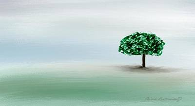 Gina Manley Painting - The Lone Tree by Gina Lee Manley