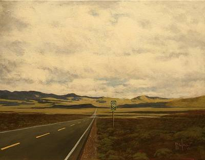 Painting - The Loneliest Road by Paul K Hill