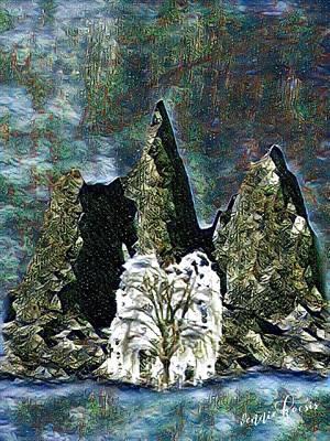 Digital Art - The Loneliest Tree by Vennie Kocsis
