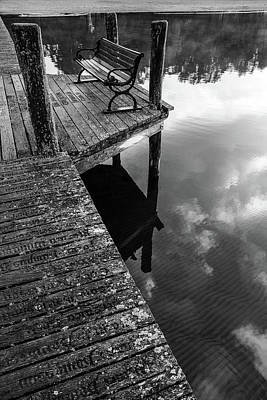Digital Art - The Lonely Bench by Tommytechno Sweden