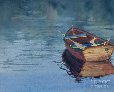Painting - The Lonely Boat by Pati Pelz