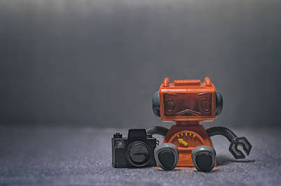 Toys Photograph - The Lonely Robot Photographer by Scott Norris