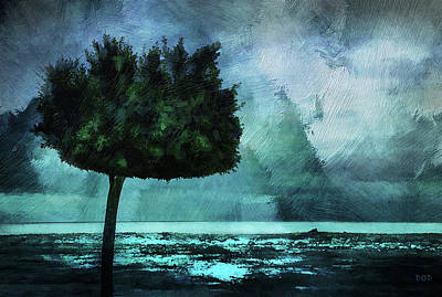 The Lonely Tree Art Print by Declan O'Doherty