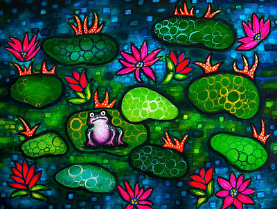 Painting - The Lonesome Frog by Brenda Higginson