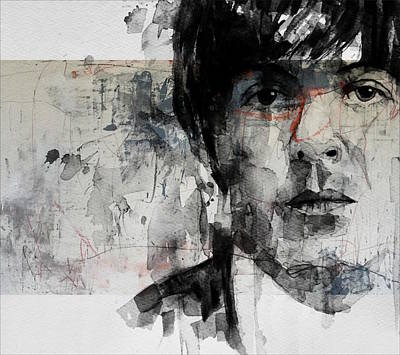 Portrait Mixed Media - The Long And Winding Road  by Paul Lovering