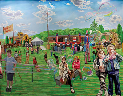 The Long Island Fair At Old Bethpage Restoration Art Print