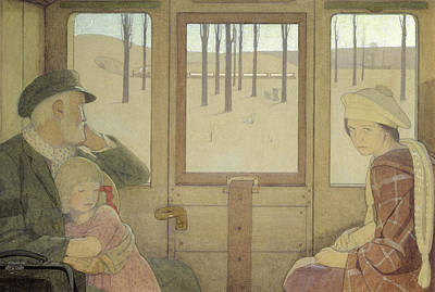 Coach Painting - The Long Journey by Frederick Cayley Robinson