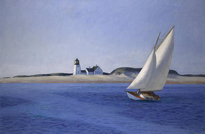 Sailing Ships Painting - The Long Leg by Edward Hopper