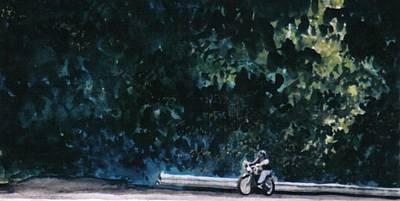 the Long Ride Art Print by Saundra Lee York