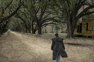 Evergreen Plantation Digital Art - The Long Road Home by Mitch Spence