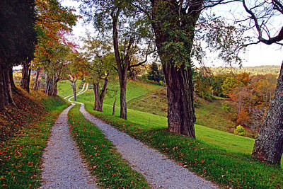 The Long Road In Autumn Art Print by Mike Murdock