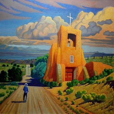 Painting - The Long Road To Santa Fe by Art West