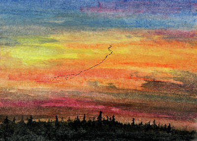 Painting - The Long Thin Line by R Kyllo