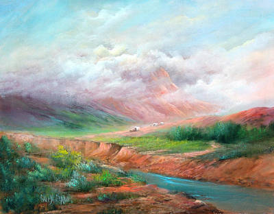 The Long Trail Art Print by Sally Seago