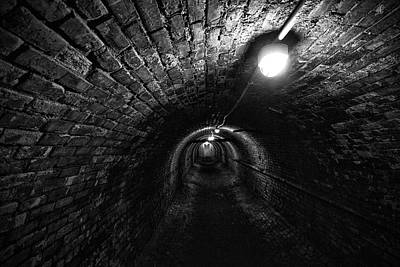 Photograph - The Long Tunnel by CA  Johnson