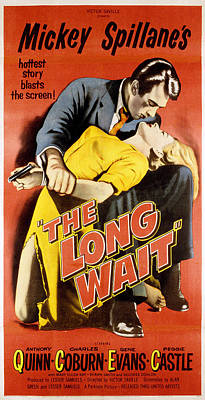 The Long Wait, Anthony Quinn, Peggie Art Print by Everett