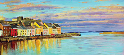 Quaint Painting - The Long Walk Galway by Conor McGuire