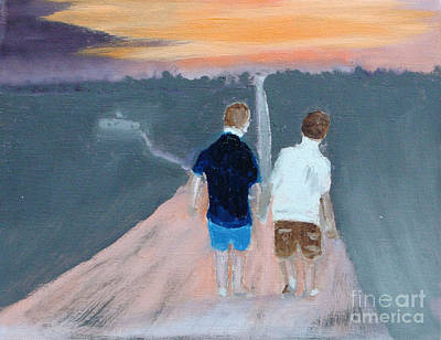 Painting - The Long Walk Home by Rod Jellison