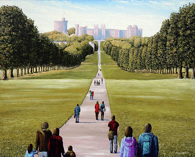 Painting - The Long Walk Windsor Iv by Mark Woollacott